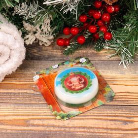 Мыло круглое с красной глиной 'Спелая малина' Ош