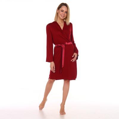 Халат женский «Вискоза», цвет бордовый, размер 44 - Фото 1