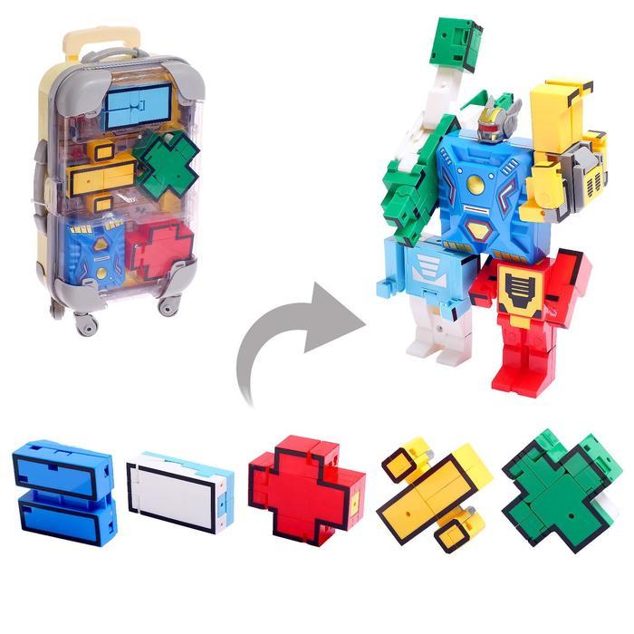 Игровой набор «Робоцифры», трансформируется, в чемодане знаки