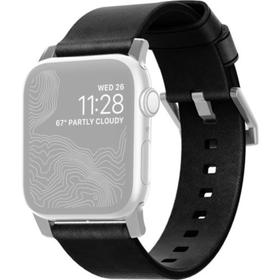 Ремешок Nomad Modern Leather Strap для Apple Watch 44мм/42мм, чёрный