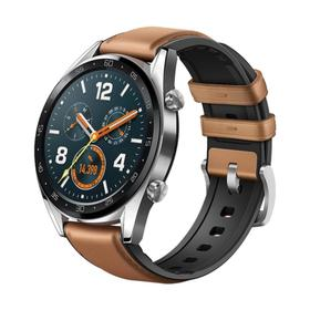 "Смарт-часы HUAWEI WATCH GT Brown Hybrid Strap, 46мм, 1.39"", Amoled, коричневые"
