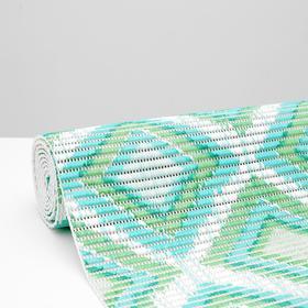Коврик ПВХ «Этно», 0,65×2 м, цвет зелёный