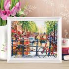 Роспись по холсту «Городской канал» по номерам с красками по 3 мл+ кисти+крепеж, 30×40 см