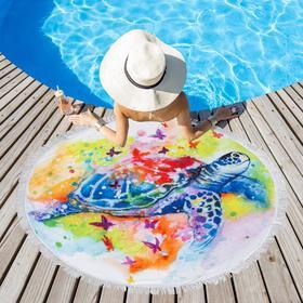 Полотенце пляжное Этель «Черепаха», d 150см
