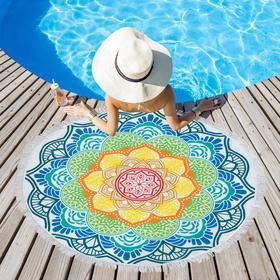 Полотенце пляжное Этель «Мандалы», d 150см