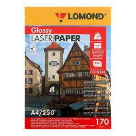 Фотобумага LOMOND для лазерных принтеров, А4, 170 г/м2, 250 листов, двусторонняя, глянцевая
