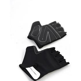 Перчатки для фитнеса унисекс кожаные Q12, цвет чёрный, размерL