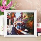 Роспись по холсту «Канал Венеции» по номерам с красками по 3 мл+ кисти+крепеж, 30×40 см