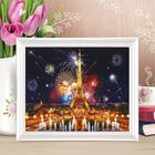 Роспись по холсту «Салют в Париже» по номерам с красками по 3 мл+ кисти+крепеж, 30×40 см
