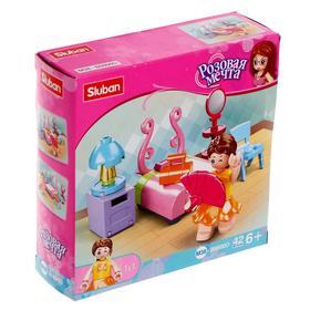 Конструктор Розовая мечта «Спальная комната», 42 детали