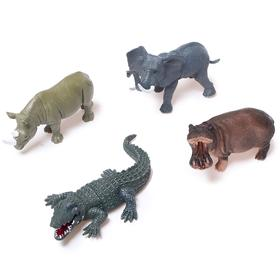 Набор животных «Звери Африки», 4 фигурок