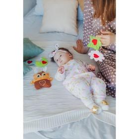 """Развивающая игрушка - грелка с вишнёвыми косточками """"Оленёнок"""""""