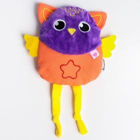 """Развивающая игрушка - грелка с вишнёвыми косточками """"Совушка"""""""