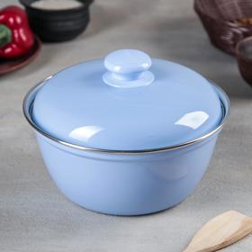 Салатник, 2 л, цвет голубой