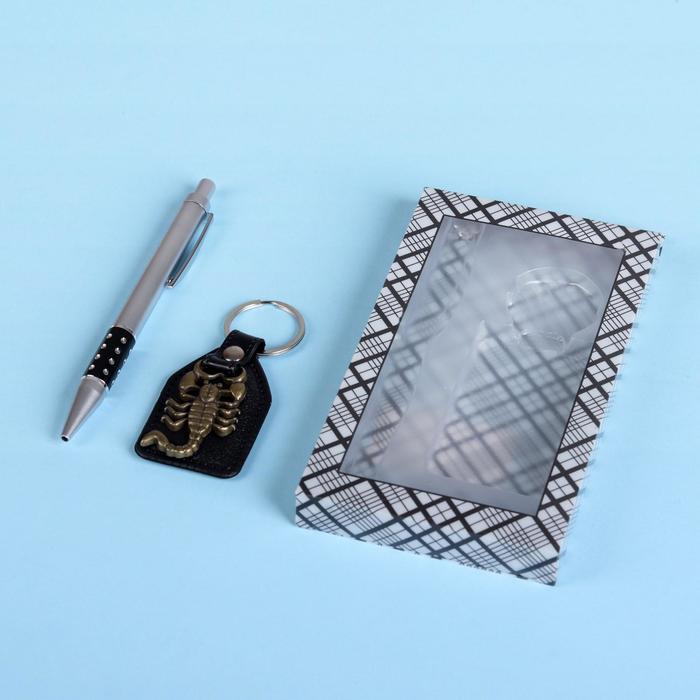Набор подарочный 2в1 ручка, брелок-скорпион