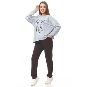 Костюм женский (свитшот, брюки) цвет МИКС, размер 46