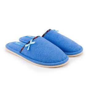 Тапочки женские, цвет синий, размер 37