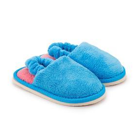 Тапочки детские, цвет голубой, размер 25
