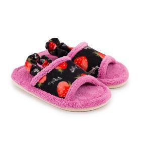 Тапочки детские, цвет розовый, размер 25