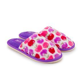 Тапочки детские, цвет фиолетовый, размер 32