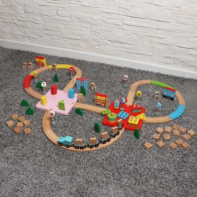 Набор железная дорога с развивающими элементами «Сказка» 60х40х8 см