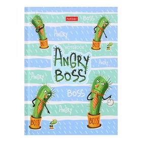 Бизнес-блокнот А6, 64 листа Angry Boss, твёрдая обложка