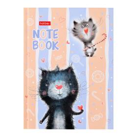 Бизнес-блокнот А6, 64 листа «Котики бывают разными», твёрдая обложка