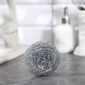 Губка для мытья посуды металлическая Доляна, спираль, 18 гр Ош