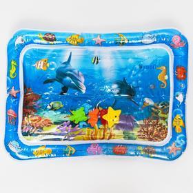 Коврик надувной с игрушками для малышей Ocean, 65х48х8см