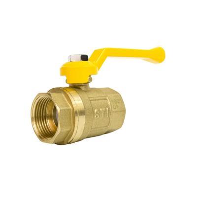 """Кран шаровой STI ГАЗ, 3/4"""", внутренняя/внутренняя, рычаг, для газа"""