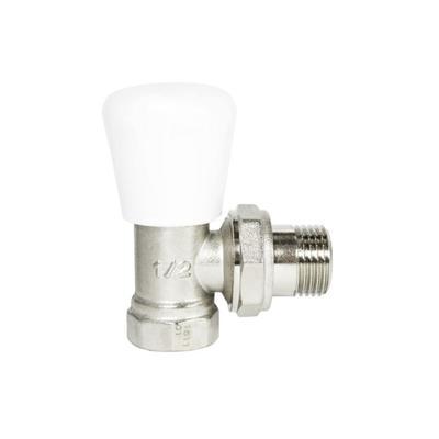 """Клапан для радиатора STI, 1/2"""", угловой, регулировочный"""