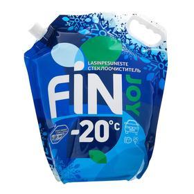 Незамерзающий очиститель стёкол FIN JOY INDIGO, фруктовый Orbit, -20, 4 л Ош