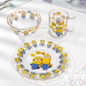 """Набор посуды «""""Миньоны», 3 предмета"""