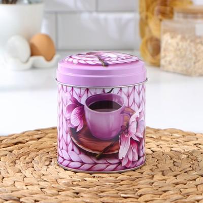 Банка для сыпучих продуктов круглая «Чайное наслаждение», 0,8 л, МИКС - Фото 1