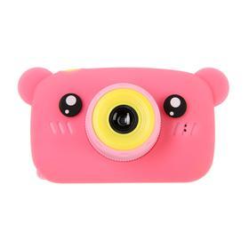 Детский цифровой фотоаппарат KIDS Fun Camera Bear 'Мишка', модель 1252682, розовый Ош