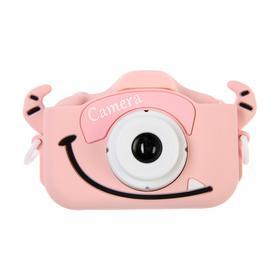 Детский цифровой фотоаппарат Cartoon Digital Camera Bull 'Бычок', модель 5654057, розовый Ош