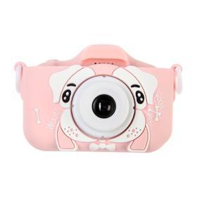Детский цифровой фотоаппарат Cartoon Digital Camera Puppy 'Собачка', модель 3515168, розовый Ош