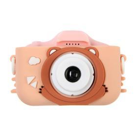 Детский цифровой фотоаппарат Cartoon Digital Camera Bear 'Мишка', модель 1421951, розовый Ош