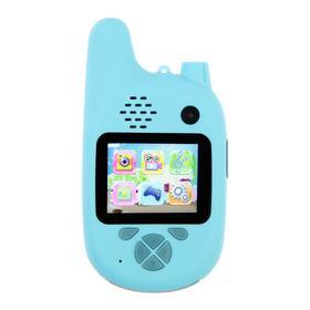Детский цифровой фотоаппарат Walkie Talkie HD, с рацией, модель 5207947, синий Ош