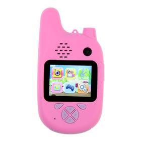 Детский цифровой фотоаппарат Walkie Talkie HD, с рацией, модель 5207947, розовый Ош