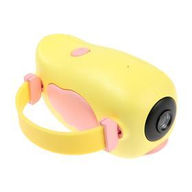 Детский цифровой фотоаппарат Wings 'Птичка', модель 2727738, желтый Ош