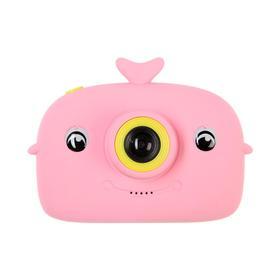 Детский цифровой фотоаппарат Whale 'Кит', модель 9467596, розовый Ош