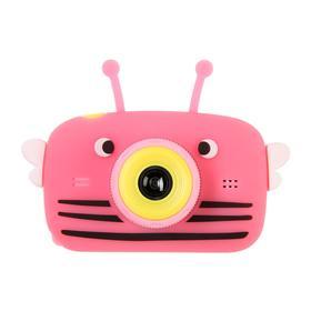 Детский цифровой фотоаппарат Children's Fun Camera Bee 'Пчела', модель 4356857, малиновый Ош