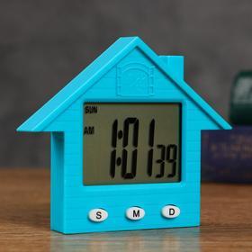 Часы  электронные 'Домик' 8.3х1.5х7.3 см , микс Ош