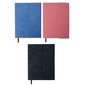 Органайзер формат А5, 100 листов, клетка, с хлястиком, с карманом, обложка пвх МИКС Ош