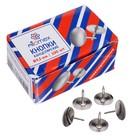 Кнопки канцелярские никелированные 9.5 мм, 100 штук,  Attomex, в картонной коробке