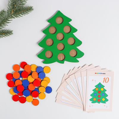 Мозаика «Ёлочка нарядная» с карточками в мешочке - Фото 1
