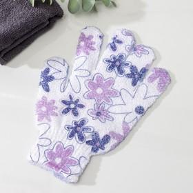 Мочалка-перчатка массажная Доляна, 14×18 см, цвет МИКС Ош