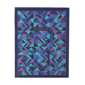 """Бизнес-блокнот А5, 80 листов """"Геометрия цвета"""", твёрдая обложка, матовая ламинация, фольгирование"""
