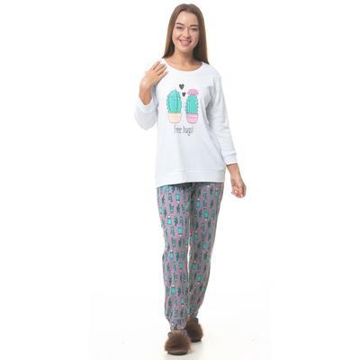 Комплект женский (кофта, брюки), цвет МИКС, размер 44